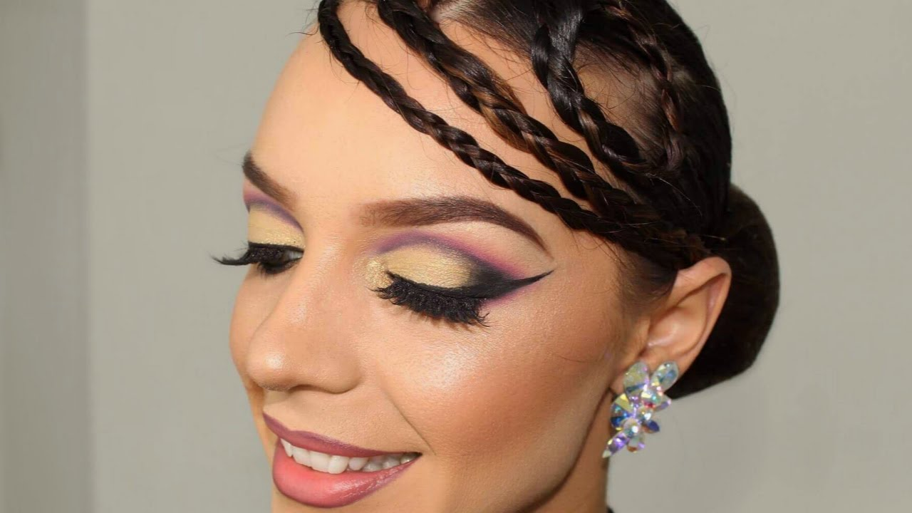 """braiding up for ballroom"""" hairstyle tutorial - dance comp review"""
