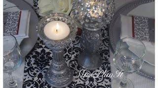 DIY:  Dollar Tree finds create Elegant Candle Sticks for $2.50!