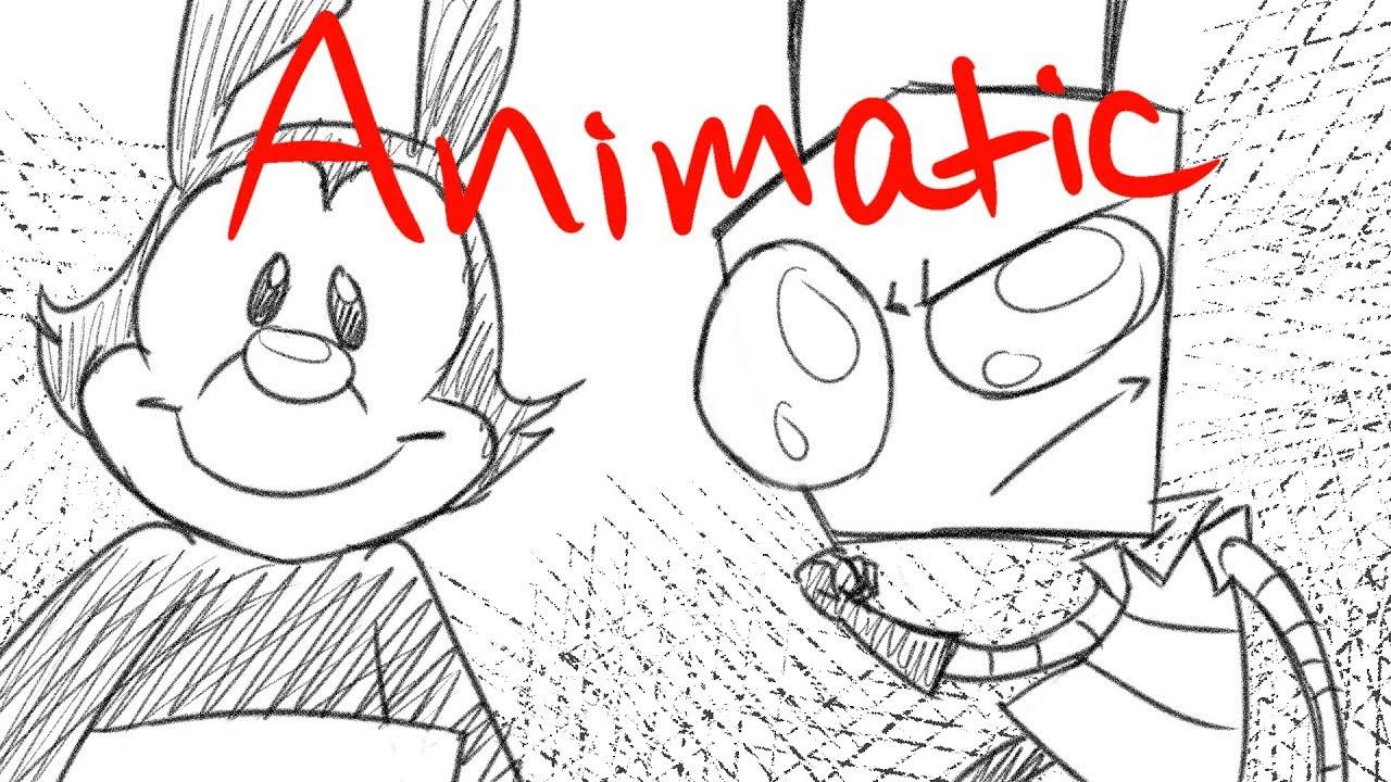 Yakko meets Zim Rough Sketch Animatic - YouTube