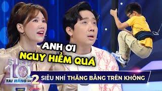 Siêu Nhí 9 tuổi khiến Trấn Thành, Hari Won, Khả Như 'MỆT TIM' với màn đu xà trên không