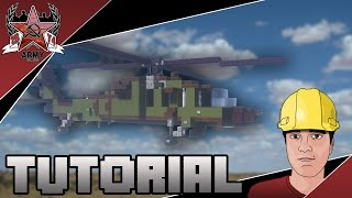 Minecraft: Modern Sikorsky UH-60 Black Hawk Utility Helicopter Tutorial