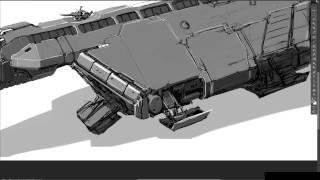 Small cargo ship concept timelapse