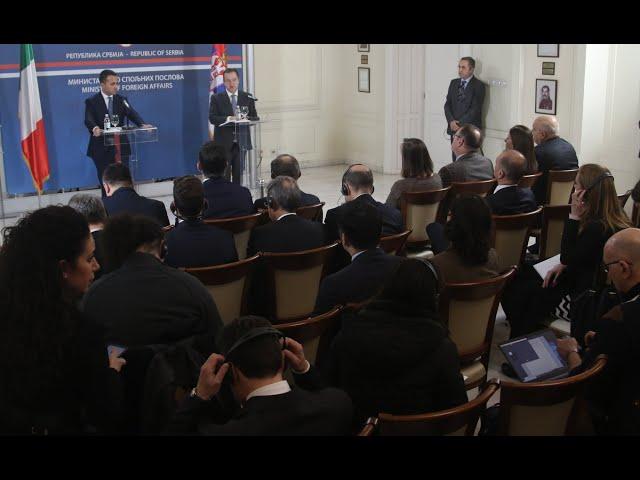 [10.02.2020.] Министар Дачић на конференцији за новинаре поводом посете МСП Р.Италије