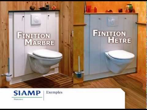 siamp meuble bati chasse wc youtube. Black Bedroom Furniture Sets. Home Design Ideas