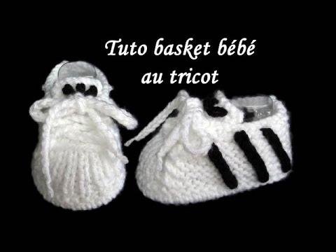les tutos de fadinou tuto basket chausson pour bebe au tricot facile. Black Bedroom Furniture Sets. Home Design Ideas