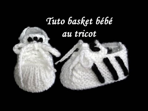 tuto chausson basket bebe au tricot basket baby bootie knitting youtube. Black Bedroom Furniture Sets. Home Design Ideas