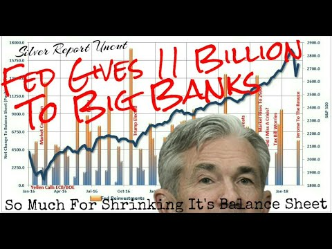The Federal Reserve Just Gave 11 Billion Dollars To The Big Banks QE to Infinity