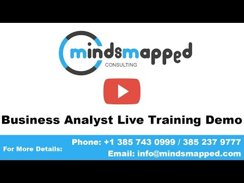 Business Analyst Training Live Demo Video by MindsMapped (Trainer Veneeth)