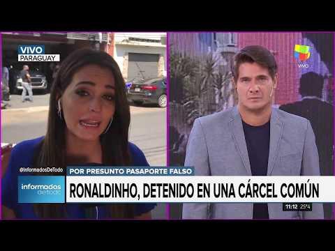 Detuvieron a Ronaldihno en Paraguay
