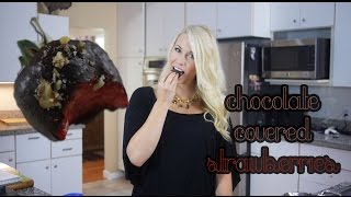 Healthy Chocolate Covered Strawberries | Low Carb