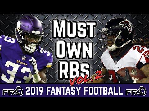 Must Own Running Backs (August Update) - 2019 Fantasy Football