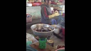Продавщица лягушек. Рынок Нячанга. Вьетнам Thumbnail