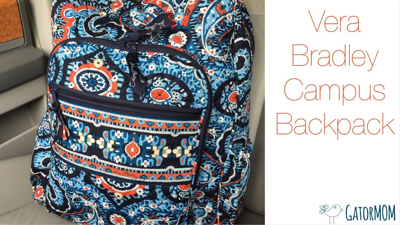 vera bradley campus backpack packed as a diaper bag youtube. Black Bedroom Furniture Sets. Home Design Ideas