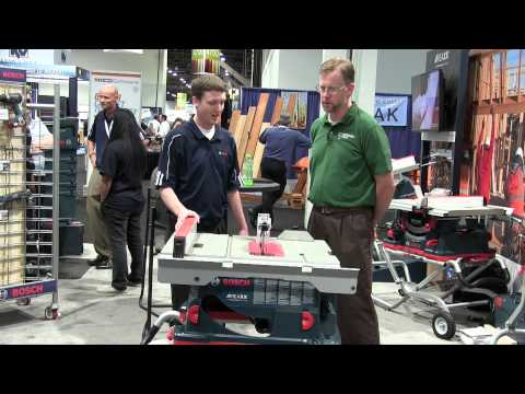 Bosch REAXX Table Saw - AWFS 2015