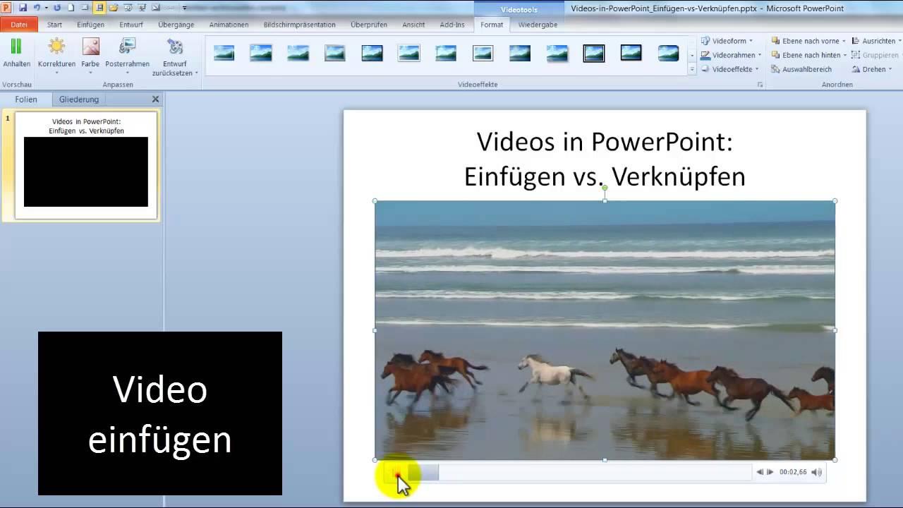 PowerPoint Video Einfugen Oder Verknupfen