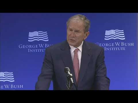 RAW: President Bush warns against politics of