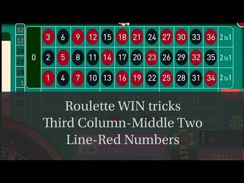 Casino roulette winning tricks