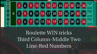 Third Column- Two Line-Red Online casino roulette