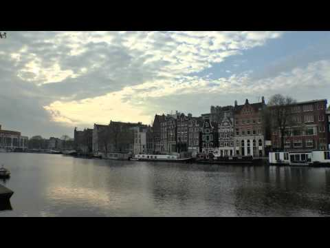 Amsterdam in the morning - nice city walk in spring 2015 - Full HD High Quality