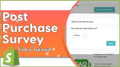 How To Add Post Purchase Survey To The Shopify Thank You Page | ReConvert