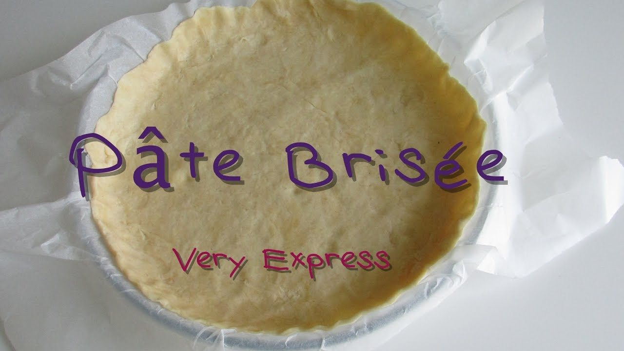 pate brisee very express facon tupperware