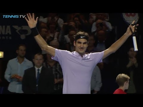 Federer shines against Tiafoe on home soil | Basel 2017 Highlights Day 2