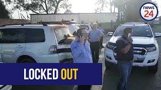 WATCH: Bosasa staff locked out by liquidators