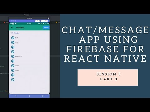 How To React-Native : Building Firebase Chat/Messaging App Part III - Personal Chat