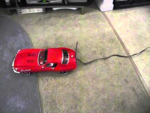 Johnny Speed 1960s Battery Operated Toy Jaguar YouTube