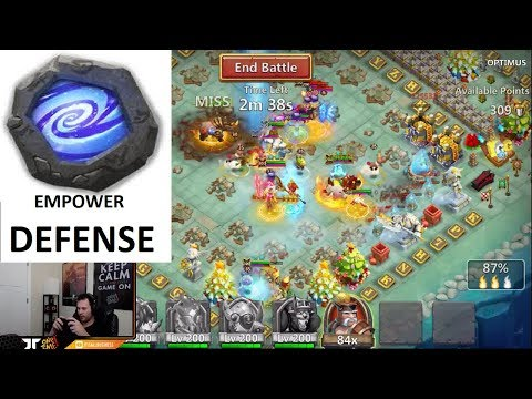 Guild Wars Full EMPOWER Defenses TOUGH Match UPS Castle Clash