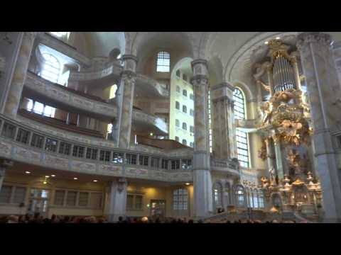 Organ Music in the Church of Our Lady in Dresden, Germany