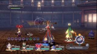 """Trinity Universe -  EX Skill - """"Kanata, Tsubaki, Prinny, Etna"""" [HD]"""