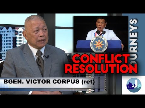 Conflict Resolution - with BG. Victor Corpus (June 10, 2018 3/3)