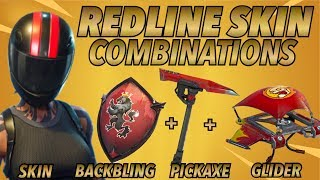 """Redline"" SKIN BEST BACKBLING + SKIN COMBOS! (Season 5 skin) (Fortnite Battle Royale) (2018)"