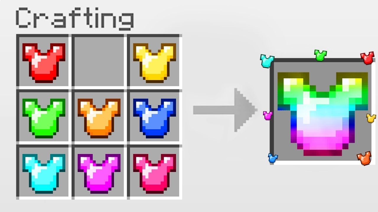 Minecraft UHC but you can craft ARMOR from any item you want