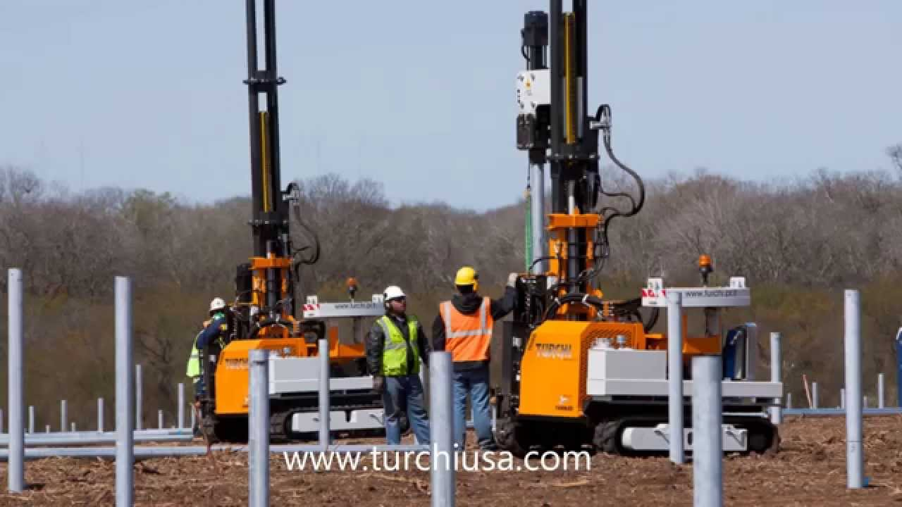 Turchi Photovoltaic / Solar Installation / Pile Driving / Post Driving ...