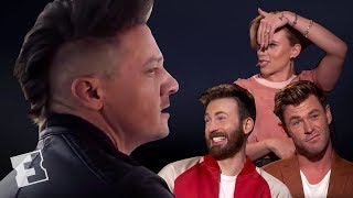The Cast of 'Avengers: Endgame' React to Hawkeye's New Mohawk | Exclusive Interview | Fandango