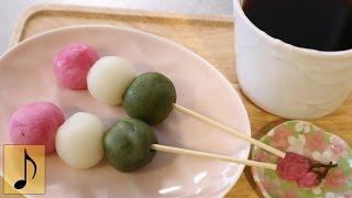 How to make Easy Microwave Hanami Dango【1 Minute Cooking】