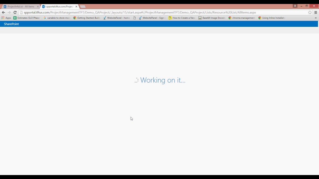 Demo of Management Portal - Sharepoint Base project - YouTube