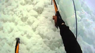 Initiation escalade de glace Alexandre