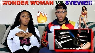 "Epic Rap Battles of History ""Wonder Woman vs Stevie Wonder"" Reaction!!"