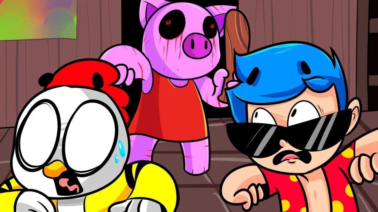 Escapamos De La Casa De Piggy Los Compas En Roblox Youtube