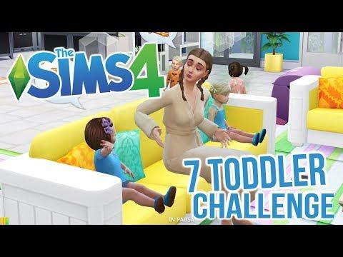 DA SOLA NON PUÒ FARCELA!!! 😩🤦🏼♀️ 7 TODDLER CHALLENGE! THE SIMS 4 #3