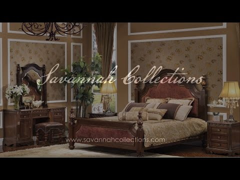Victorian Bedroom Collection (Antique Cocoa) by Savannah Collections - Century Furniture