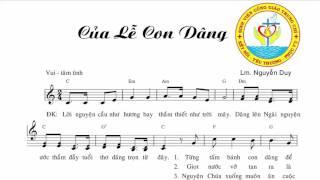 Của Lễ Con Dâng || Lm. Nguyễn Duy || Sinh Viên Công Giáo Trung Chí