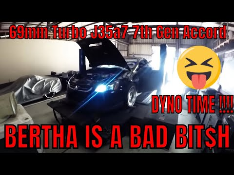 *Bertha Gets Dynoed* Turbo J35 Accord Puts Down Crazy Powa @ Only 8Psi !! How To Quiet Doubters...
