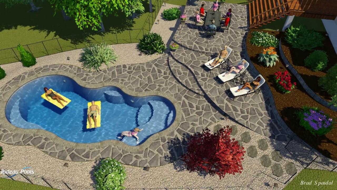 Calypso fiberglass pool design by rideau pools ottawa for Pool design ottawa