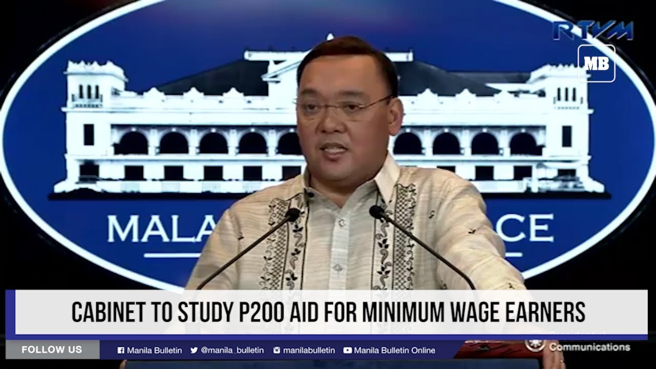 Cabinet to study P200 aid for minimum wage earners