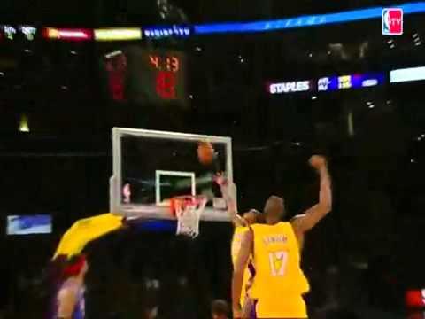 Kobe Bryant Skies for the Alley-Oop Jam