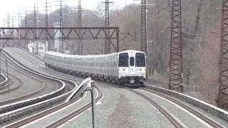 Long Island Rail Road HD 60fps: 14-Car Kawasaki M9 Test Train On The Babylon Branch (4/9/19)